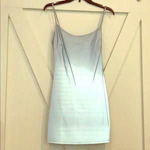 NWOT reflective mini dress